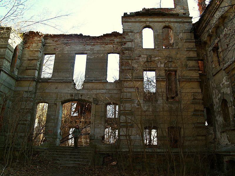 Ruiny pałacu w Wierbce